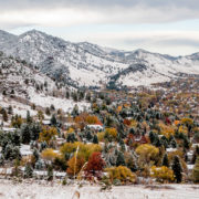 Boulder Colorado first snow