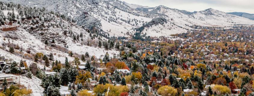 Boulder Colorado first snow
