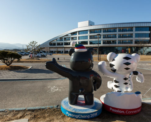 Figures Mascots of the Winter Olympic Games 2018 in Pyeongchang