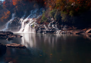 Twin Falls at Rock Island State Park in Tennessee