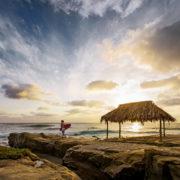 La Jolla Windansea Beach sunset