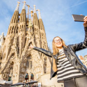 Tourist in Barcelona, Spain