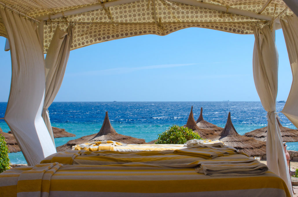 Spa area on beach at Sharm El Sheikh