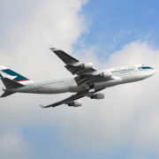 Cathay Pacific Boeing 747 departure from the Hong Kong