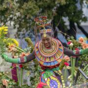 Carnival dancer in Nice, France