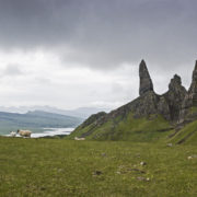 Old man of Storr and hebridean view, Scotland