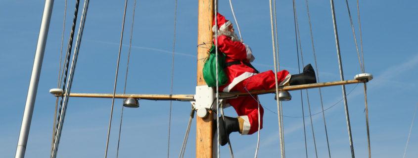 Santa on a cruise ship
