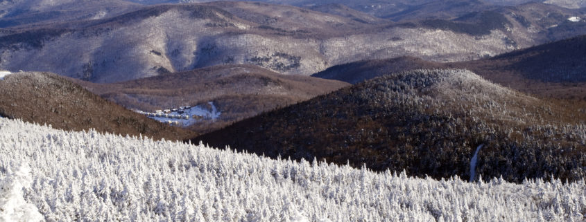 Vermont mountains in winter