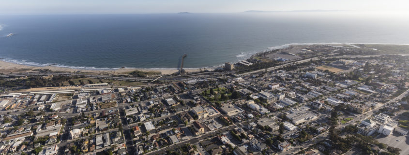 Southern California coastline and downtown