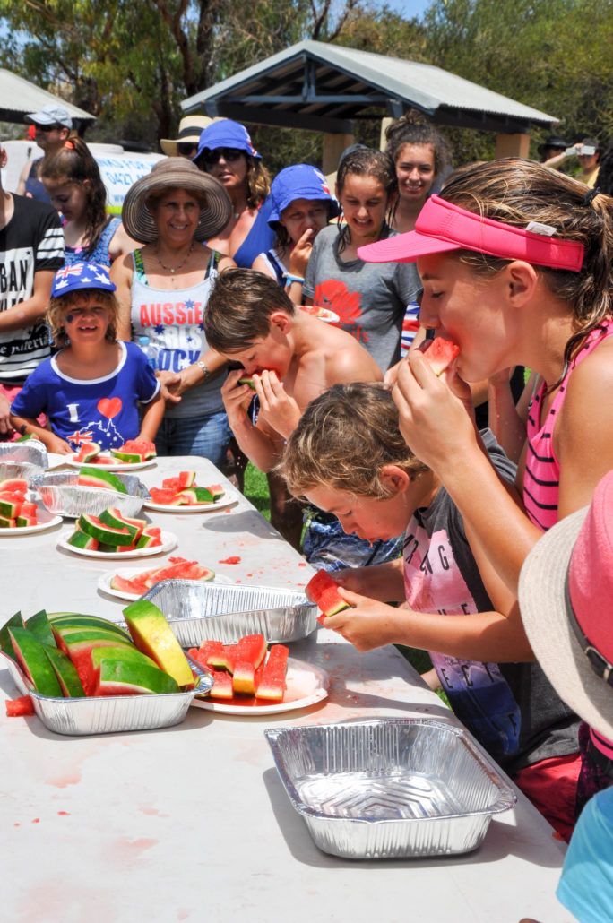 competitive eating watermelons