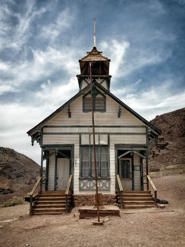 Historic Schoolhouse in Calico Ghost Town, California