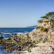 Cliffs on the Pacific of Carmel by the sea in Monterey, Calif.