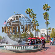 Universal Studios Hollywood Globe in Los Angeles
