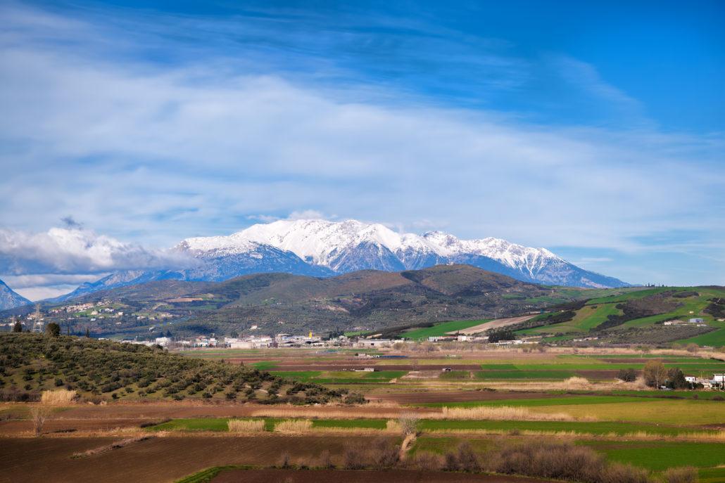 Mount Parnassos in Greece, Ski area for Athens