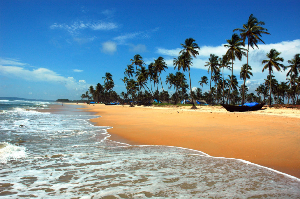 The beach of Goa, India