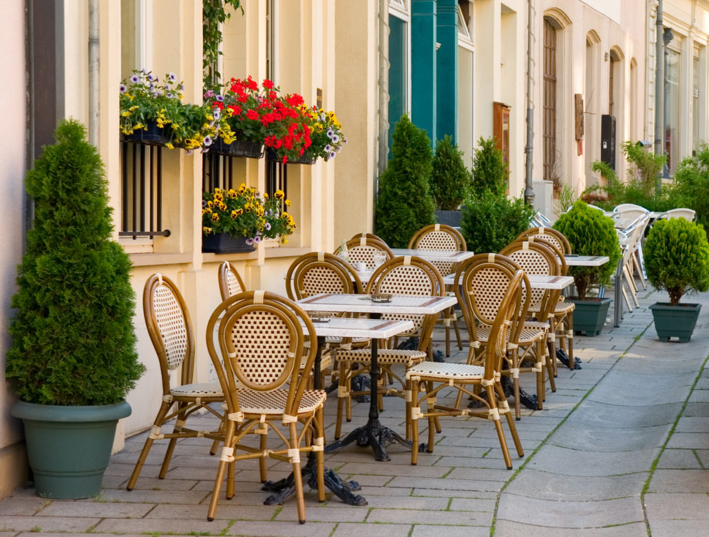 street cafe in Luxembourg City
