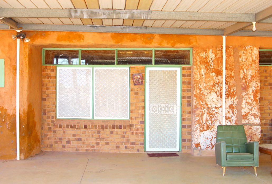 Underground house patio vintage, Coober Pedy, Australia