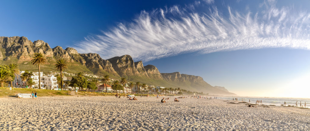 Evening at Camps Bay Beach - Cape Town, South Africa