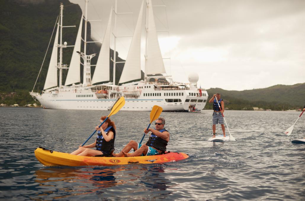 kayaking off cruise