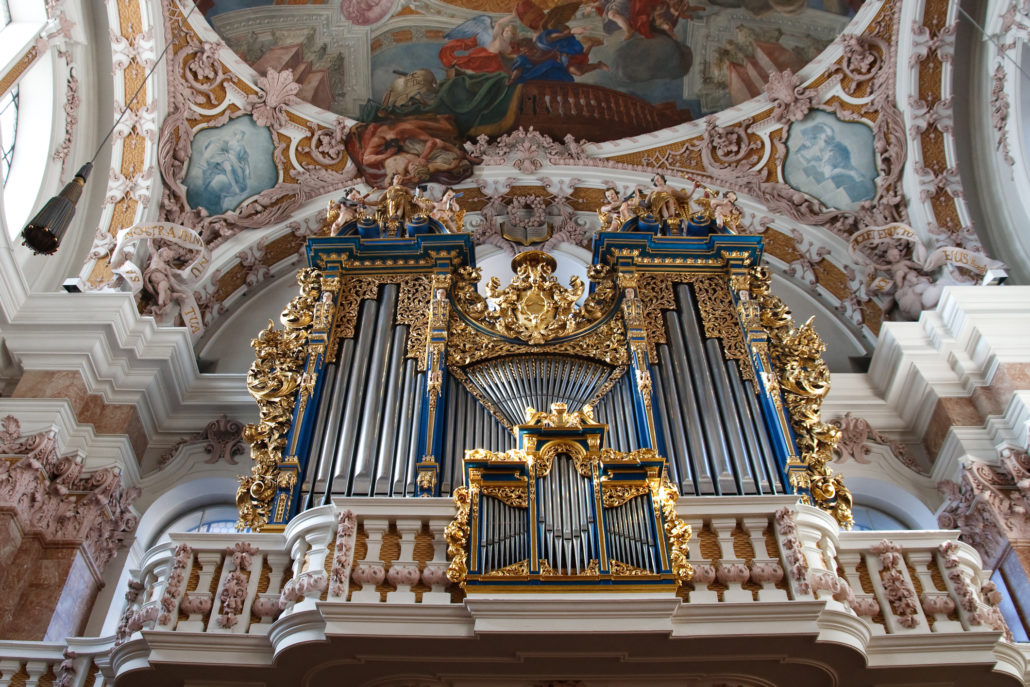 Baroque Pipe Organ in Innsbruck, Austria