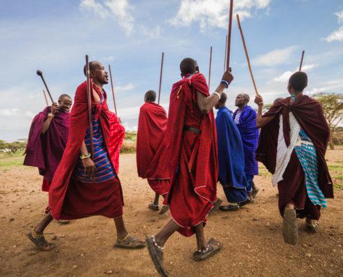 Maasai welcome dance