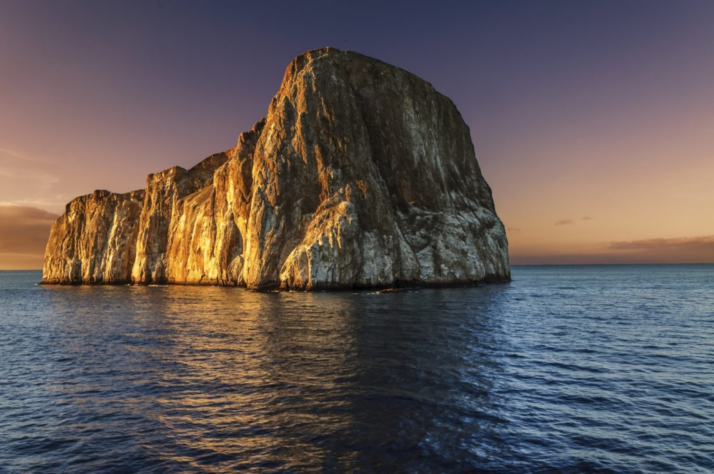 Kicker Rock at Sunset - Galapagos Islands