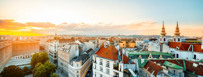 Vienna cityscape in Austria