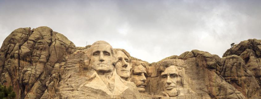 Mount Rushmore National Memorial Park in South Dakota, USA.