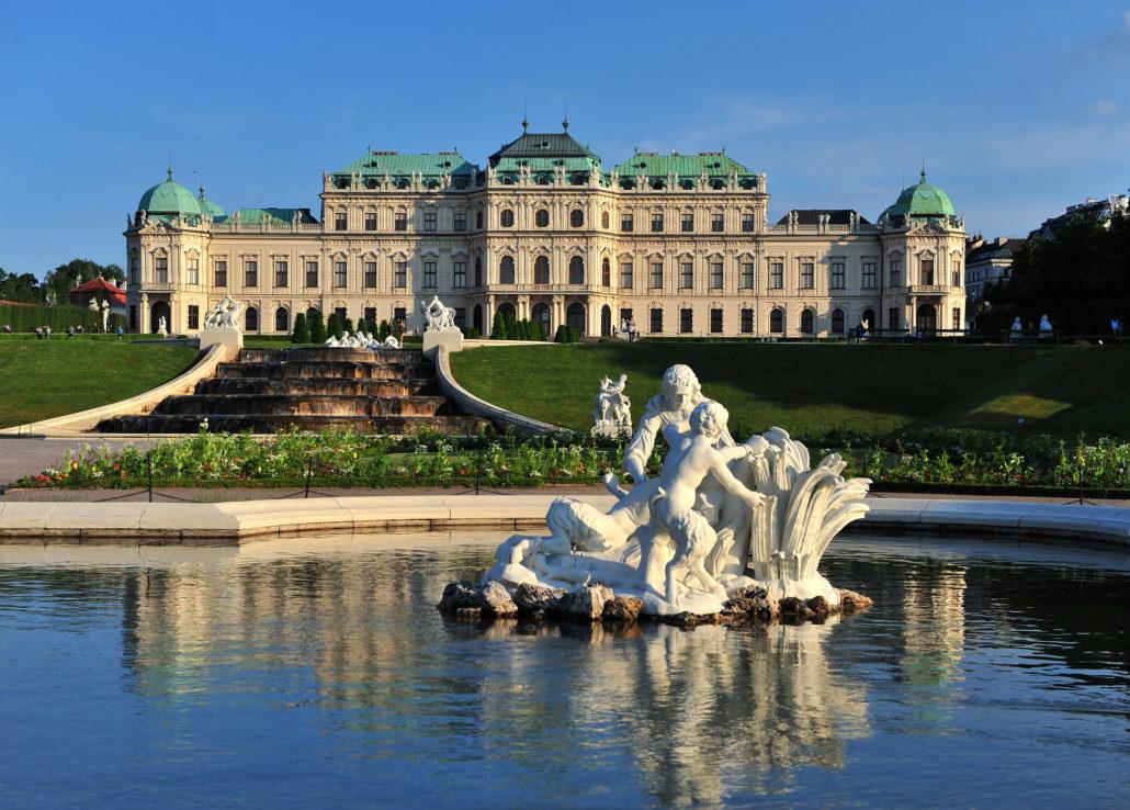 Belvedere museum complex in Vienna