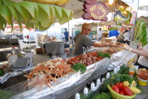 Seafood festival by the beach in Florida