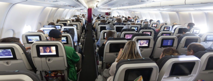 Inside of an EuroWings aircraft