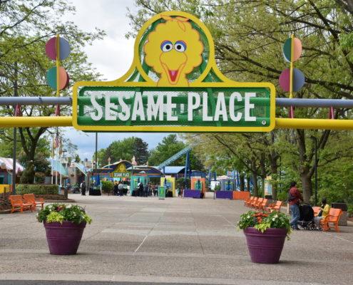 Sesame Place in Langhorne, Pennsylvania. Kids, neighborhood.