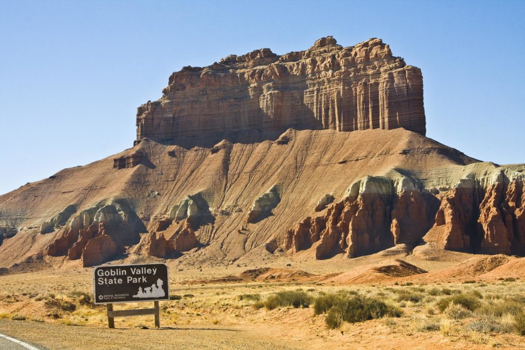 Goblin Valley, Utah bluff