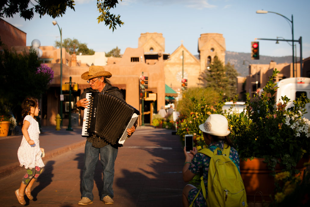 Kid on Santa Fe Plaza