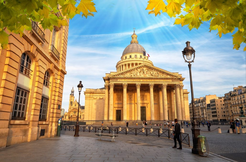 Pantheon In Latin Quartier, Paris France