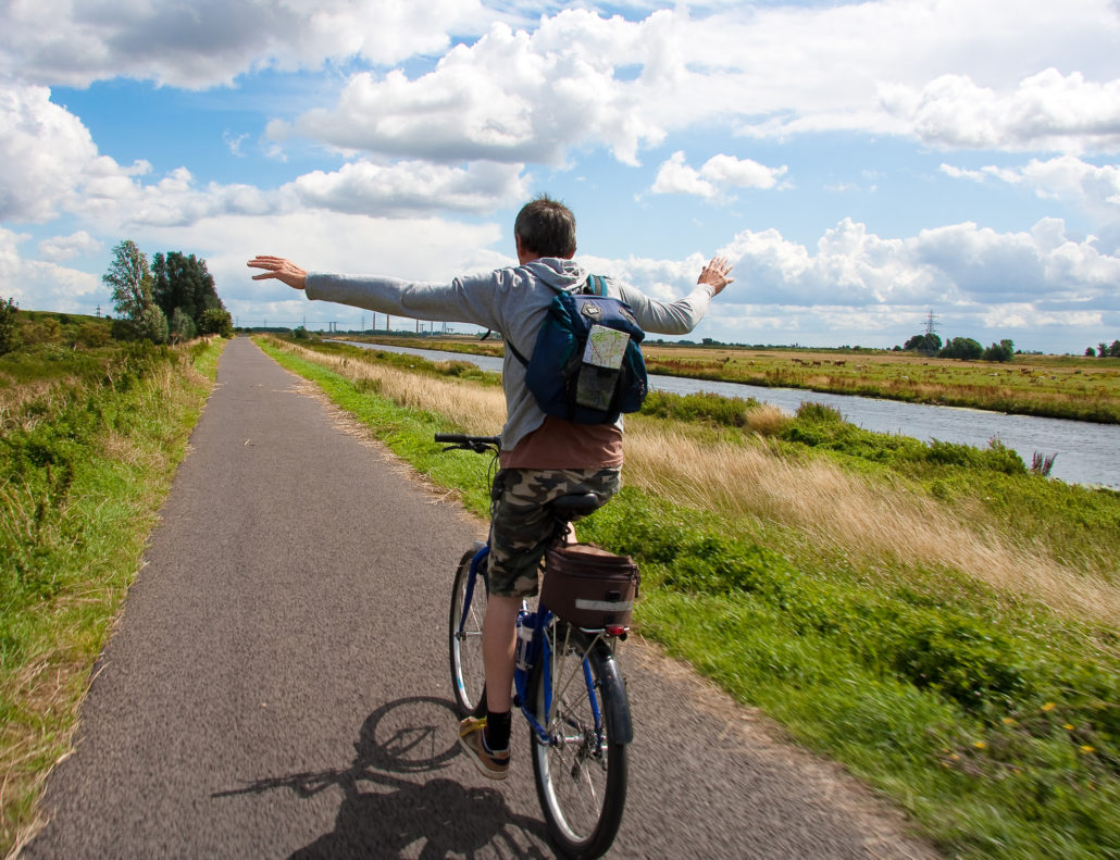 riding bike through Salisbury Wiltshire England countryside