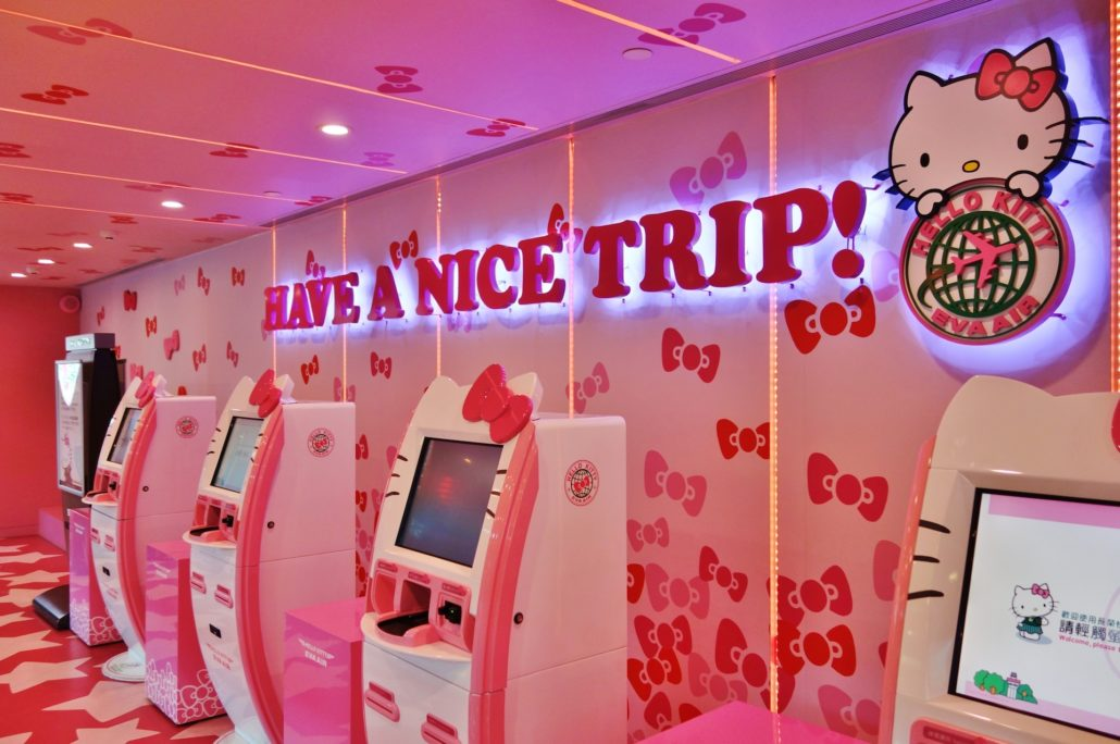 EVA Air Hello Kitty Check in