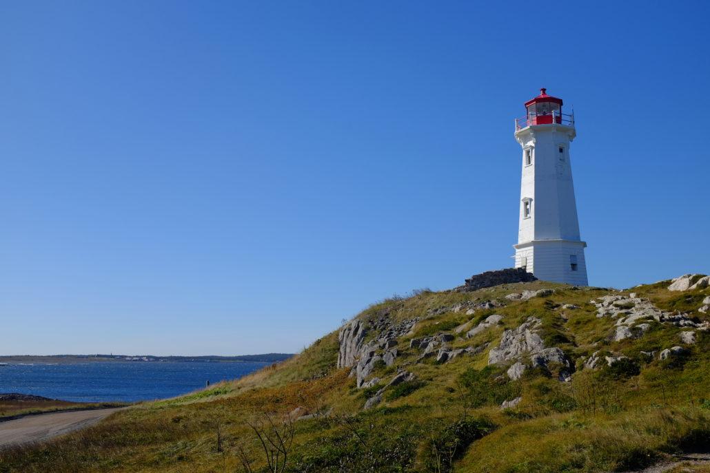 Louisbourg Lighthouse, Cape Breton Island, Canada