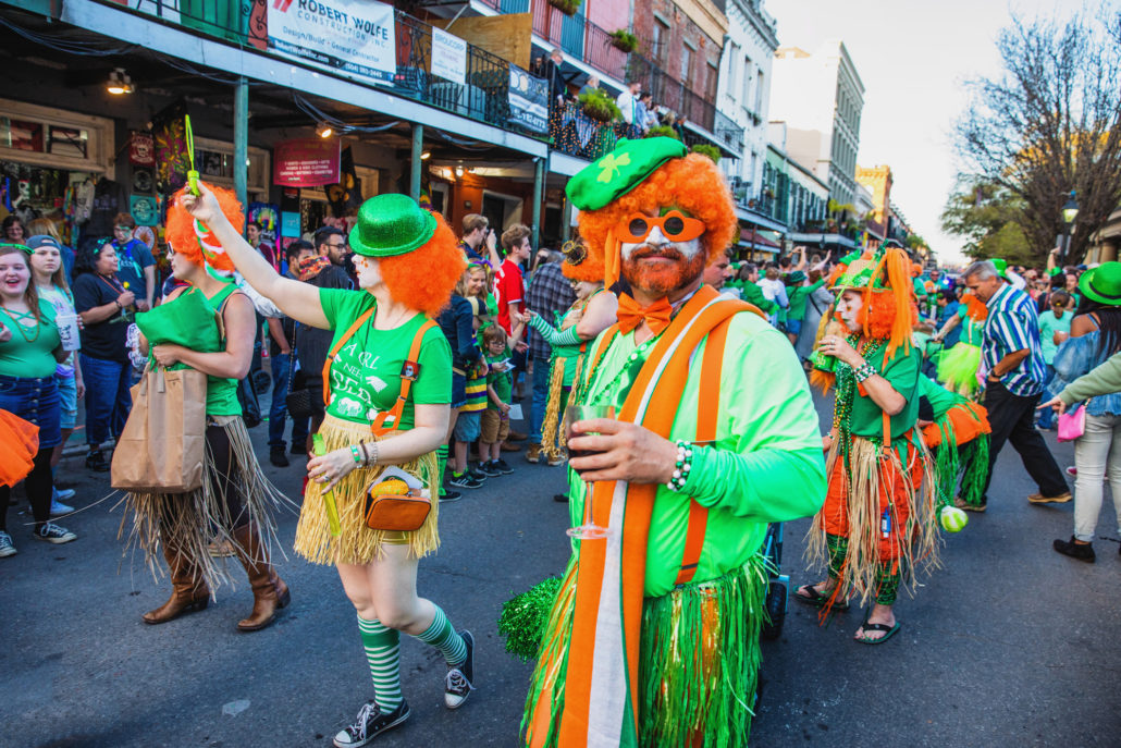 St. Patrick's Day. Holiday New Orleans