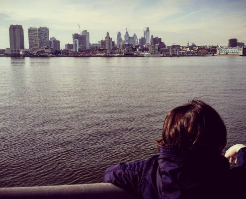 Philly view over water
