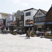 City of Salisbury Wiltshire England UK. Center restaurants.