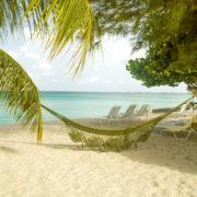Panorama of Seven Mile Beach on Grand Cayman island