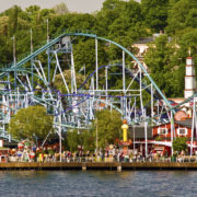 Sweden, Gota Canal, Stockholm, Skansen Park, Grona Lund's Tivoli