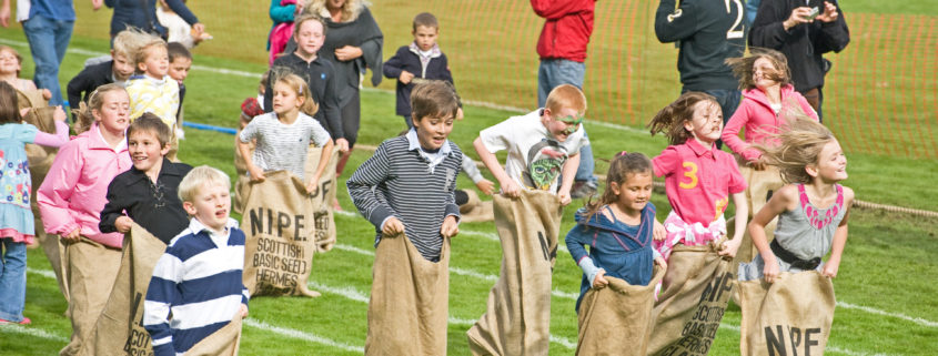 Sack race at Bremar Gathering