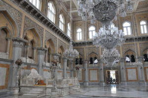 Chowmahalla Palace in Hyderabad, India. Home, flower