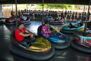magnetic car riding at the amusement park at Ramoji film city, India
