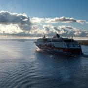 Viking Line ferry float on fjords