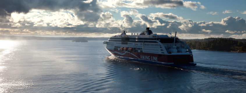 Viking Line ferry float on fjords