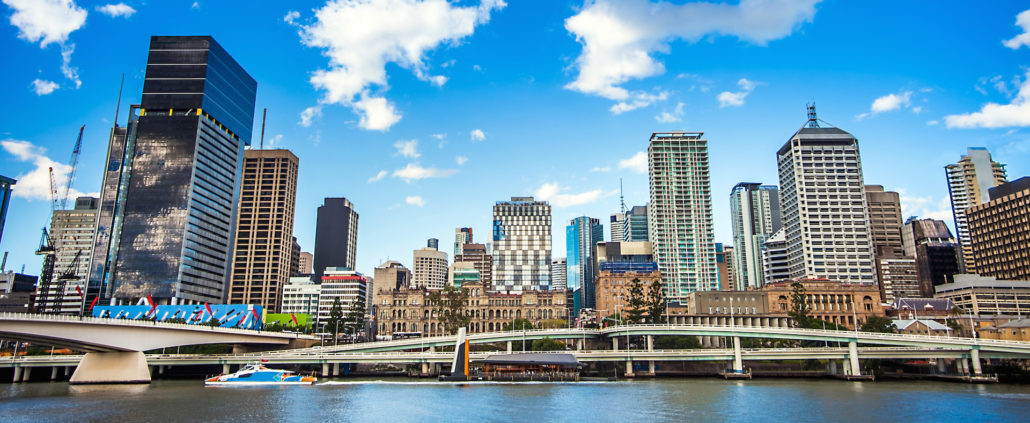 Skyline of Brisbane Australia