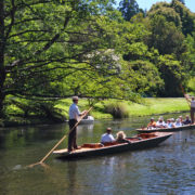 Punting on The Avon River Christchurch New Zealand